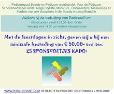 www.pedicurepunt.com De Beauty en Pedicure Groothandel / Webshop