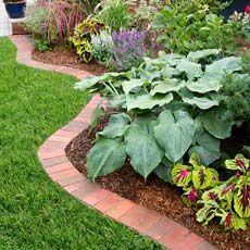 DIY How to Edge a Garden with Bricks. More