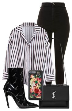 """?"" by elishajulca ❤ liked on Polyvore featuring Topshop, Yves Saint Laurent, Balenciaga and Dolce&Gabbana #estilochic"
