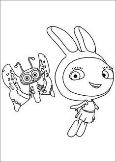 Waybuloo Fargelegging for barn. Tegninger for utskrift og fargelegging nº 6