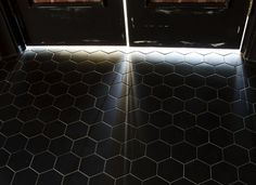 Black Hexagons by TopCer, 100x115mm chip size