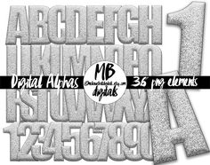 Suggested uses for alphabets: digital scrapbooking, craft projects, graphic design, typography, web design, classrooms, bulletin boards, wall art, posters, stationery, party printables, teacher resources and more! © 2009-2017 Melanie Britt Digitals™ | https://melaniebrittdigitals.etsy.com