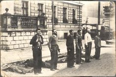 Two seconds before execution - Polish resistance members, Warsaw Uprising 1944.