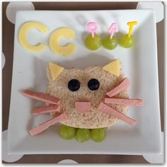 Alphabet themed lunch letter C for cat