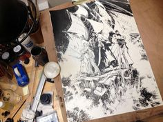 """#WIP by Matthieu Lauffray for """"Long John Silver"""""""