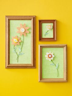 Framed Flowers- cute crafts with buttons