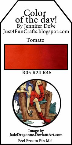 Just4FunCrafts and DoveArt Studios: Color of the Day ~ Tomato