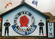 Ulster Young Militants Mural ... Lower Shankill Belfast Northern Ireland Troubles, Belfast, Wall Murals, The Past, Art, Murals, Wallpaper Murals, Art Background, Wall Prints