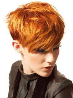short hairstyle with golden color