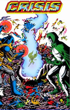 cover of crisis on infinite earths no. 10