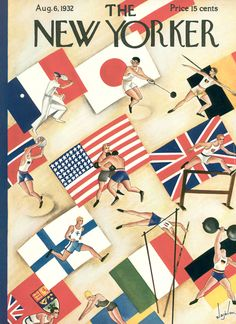 An Olympic-themed cover from 1932, when the Games were held in Los Angeles.  Click-through for a slideshow of other vintage Olympic covers: http://nyr.kr/MmfwOE