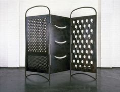 Mona Hatoum Grater Divide 2002 Mild steel 204 x 3.5 cm x variable width - See more at: http://uk.blouinartinfo.com/photo-galleries/mona-hatoum-at-tate-modern?image=5#sthash.pgqGI2Zg.dpuf
