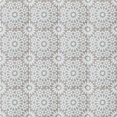 Blauw grijze patchwork vloertegel met grafische patronen in 60x60 ook in 20x20 cm te krijgen - Tegels taupe ...
