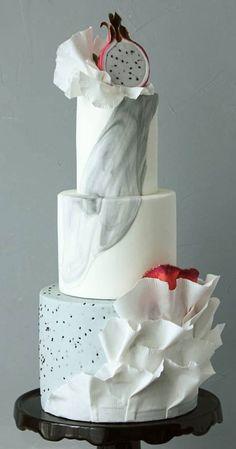 Elegant Wedding Cakes, Beautiful Wedding Cakes, Wedding Cake Designs, Beautiful Cakes, Cake Wedding, Contemporary Wedding Cakes, Take The Cake, Cake Art, Fruit
