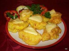 Hungarian Recipes, Potato Recipes, Cauliflower, Side Dishes, Sandwiches, Muffin, Goodies, Potatoes, Pizza