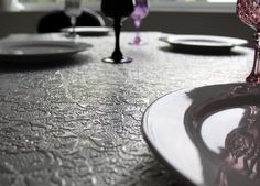Funky dining table surface. 'Tessa' table from Out There Interiors