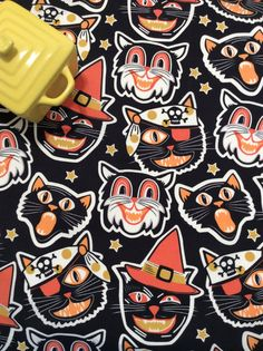 Halloween Black Cats Dish Drying Mat by MakingSomethingHappy