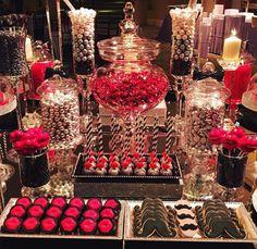 Red dessert bars