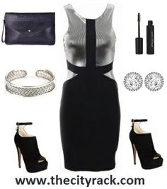 Work the futuristic look with this bold metallic silver dress. The black panels are positioned to create the illusion of a more hourglass frame while the on-trend silver design is perfect for your New Year's Eve parties. Layer up with some silver jewellery and finish with some dramatic make-up, some statement heels and a matching bag.