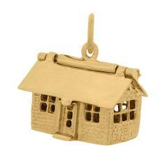 Decorator's House 14k Gold Charm