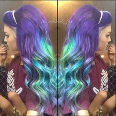 Pretty purples, greens and blues. Might have to try this one.
