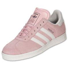 Womens-Adidas-Gazelle-II-Originals-Sneakers-New-Light-Pink-White-G60435