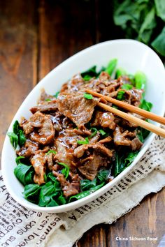 Oyster beef with Chinese Broccoli by chiinasichuanfood #Beef #Broccoli