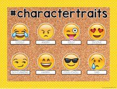 How to Emoji-fy your Classroom {With a Giveaway! Reading Bulletin Boards, Classroom Bulletin Boards, School Classroom, Classroom Themes, Classroom Activities, Classroom Organization, Character Bulletin Boards, Classroom Posters, Teaching Technology