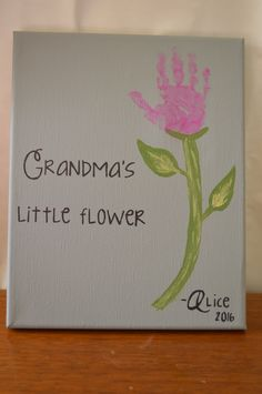 Flower Handprint - Canvas Kit
