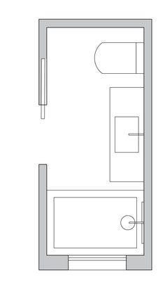 Long and narrow Bathroom Layout