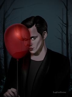 Bill skarsgard With his Pennywise Balloon Beautiful painting Halloween Drawings, Halloween Illustration, Horror Movie Characters, Horror Movies, Desenhos Halloween, Bill Skarsgard Pennywise, It The Clown Movie, Roman Godfrey, Le Clown