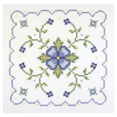 Cross Stitches Janlynn Blue And Yellow Geometric Quilt Blocks Stamped Cross Stitch Kit - Manufacturer: JanlynnQuantity: 6 Pre-Printed BlocksMeasurements: 18 Cross Stitch Rose, Cross Stitch Borders, Cross Stitch Flowers, Cross Stitch Designs, Cross Stitching, Cross Stitch Embroidery, Embroidery Patterns, Cross Stitch Patterns, Quilt Patterns