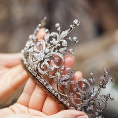 A Victorian tiara, crafted from yellow gold, silver and diamonds, c 1880s. The tiara can be taken apart: it incorporates five separate brooches, and can also be turned into a necklace.