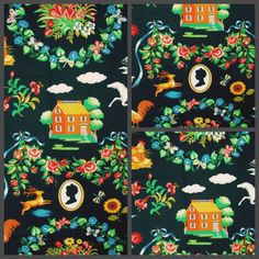 An early fabric from the first Diamond Baratta collection for Lee Jofa