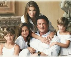 Jennifer Flavin family #JenniferFlavin Sistine Rose Stallone, Jennifer Flavin, Burt Young, American Gladiators, Janice Dickinson, Angie Everhart, Supportive Husband, Kathy Griffin, Three Daughters