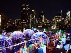 Best Rooftop Bar NYC-Best Rooftop Bars fifth where you can sit in a lighted igloo on the roof! New York NY New York Trip, Shopping In New York, New York Travel, Paris Travel, Nyc Winter, Nyc Fall, New York Winter, Trump Tower, Resto New York