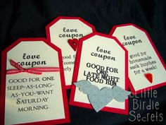Valentine coupons for hubby