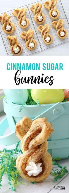 Cinnamon sugar Easter bunny twists {fun + easy Easter treat} - It's Always Autumn