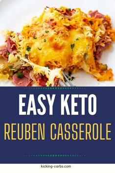 Keto Reuben Casserole is a wonderful twist on the much loved Reuben Sandwich. Prepare for mouthfuls of flavor before you - it has all of the ingredients you love in the confines one easy cheesy dish. With just 15 minutes of hands-on time, this low carb recipe is perfect for busy weeknights. Reuben Casserole, Keto Casserole, Breakfast Casserole, Casserole Dishes, Best Low Carb Recipes, Keto Recipes, Dinner Recipes, One Pot Meals, Easy Meals