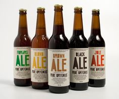 super simple beer labels