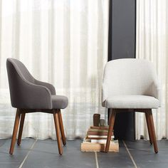 Saddle Dining Chair - Crosshatch | west elm chairs for kitchen table
