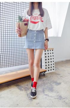 Korean fashion A skirt - AddOneClothing - 1