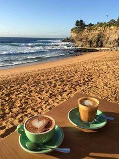 Coffee on the beach, what a dream