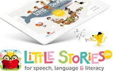 A new app for iPad - Little Stories for Speech, Language and Literacy! Try it free with your little ones!