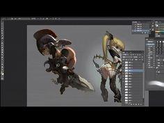 China Digital Painting - Character design - Artist Shade - Part 1-2 - YouTube