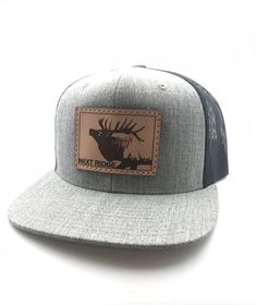 e1824c67364 Elk Country Leather Patch Hat Caps Hats