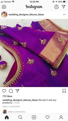 Fashion Dresses Indian Blouses New Ideas - Designer Dresses Couture Pattu Saree Blouse Designs, Blouse Designs Silk, Designer Blouse Patterns, Bridal Blouse Designs, Dress Patterns, Simple Blouse Designs, Stylish Blouse Design, Couture, Work Blouse
