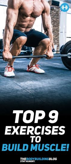 Check out The Top 9 Exercises to Build Muscle! #fitness #muscle #workout #exercise #exercises