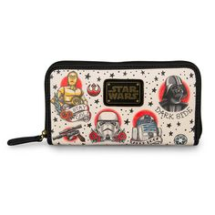 Star Wars Tattoo Flash Print Faux Leather Wallet - Star Wars - Brands