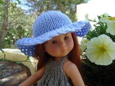 Tuto chapeau tricot crochet pour poupées chéries de corolle